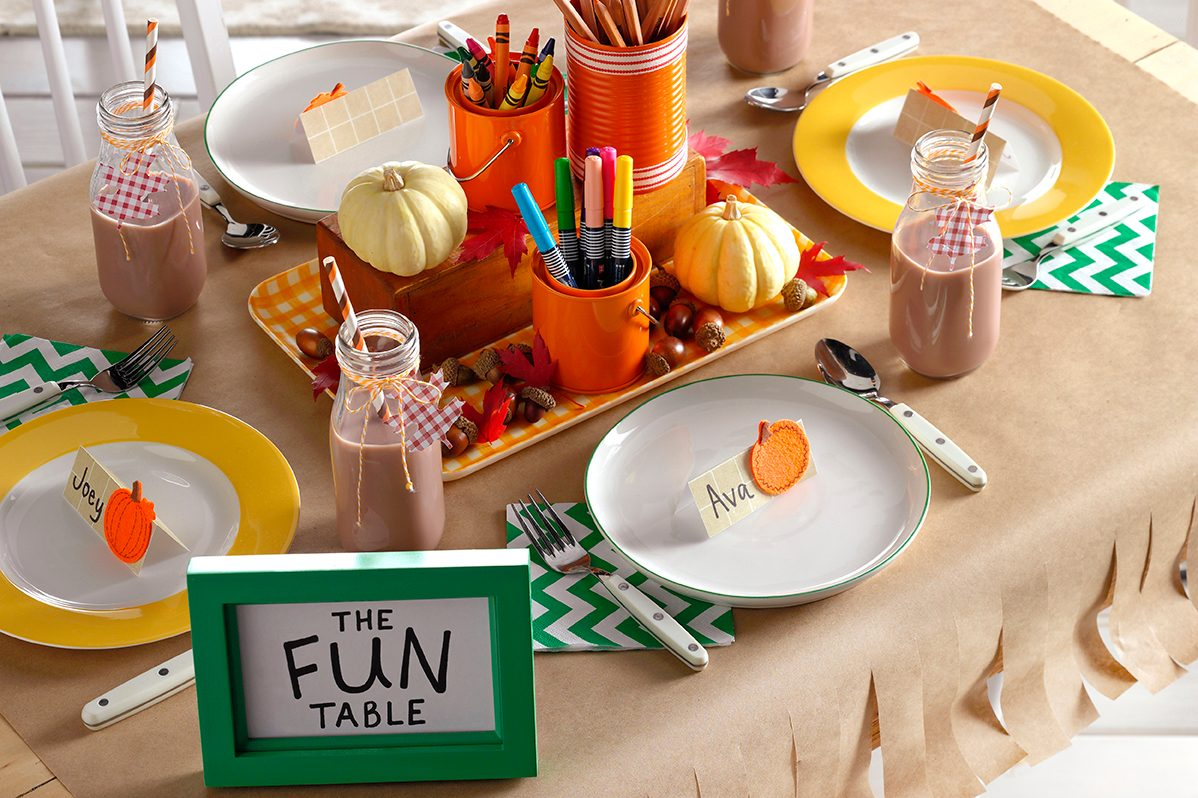 Kids table for Thanksgiving