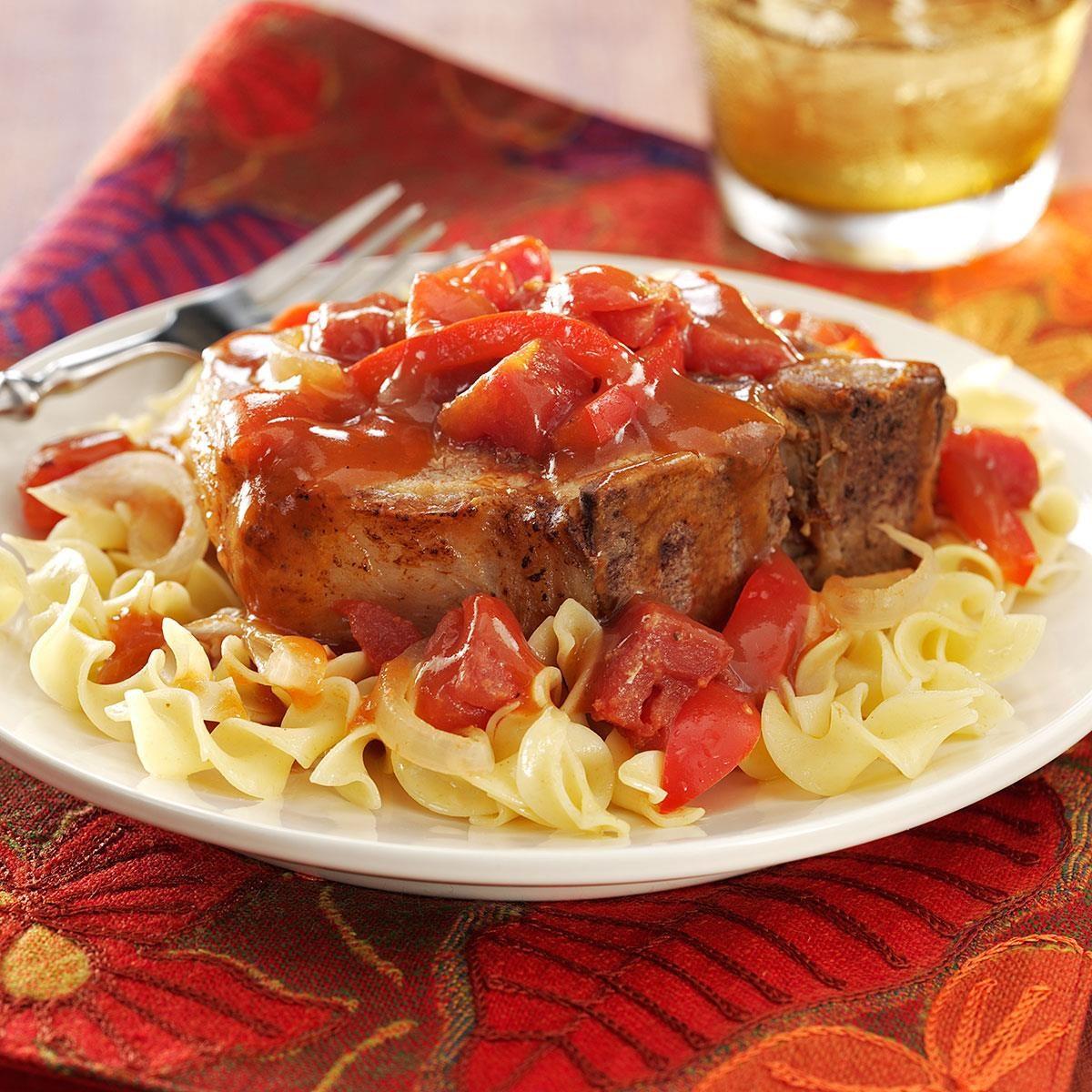 Tangy Tomato Pork Chops Recipe