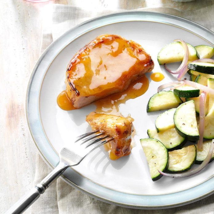 Tender Glazed Pork Chops