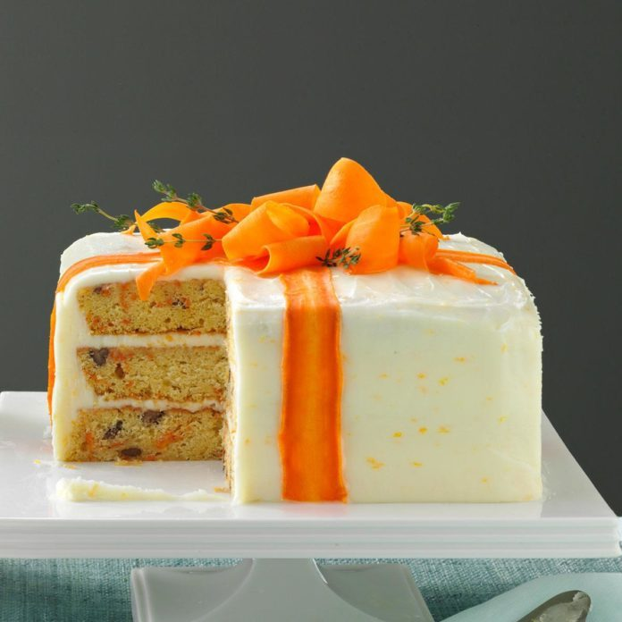 Three Layered Carrot Cake
