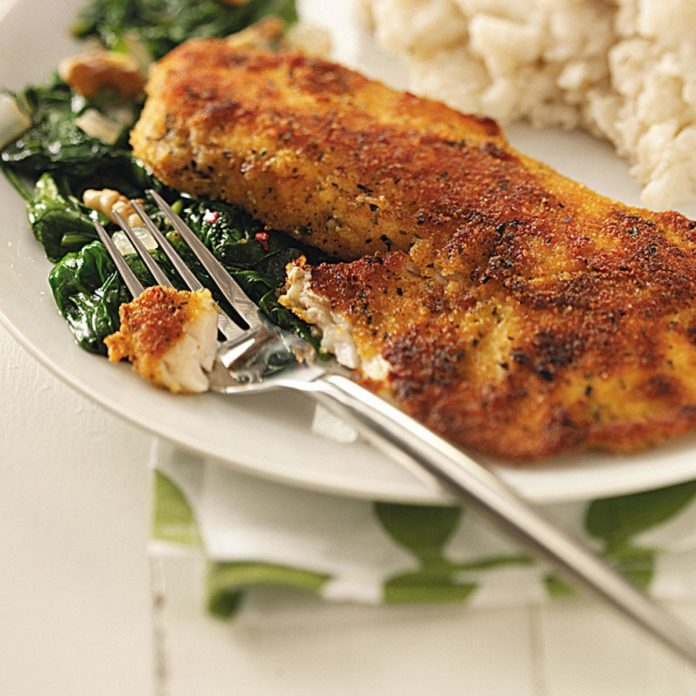 Tilapia with Spinach for Two