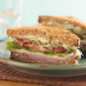 Toasted Clubs with Dill Mayo