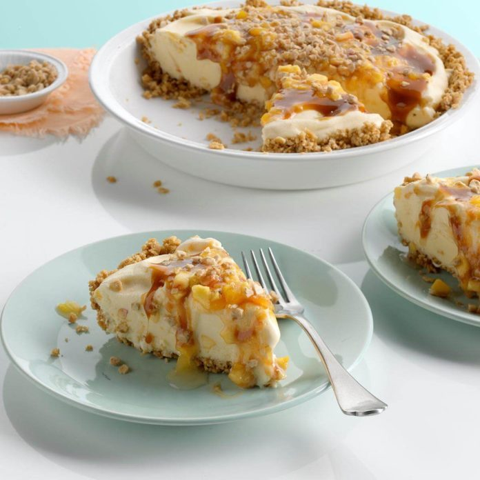 Toffee-Peach Ice Cream Pie