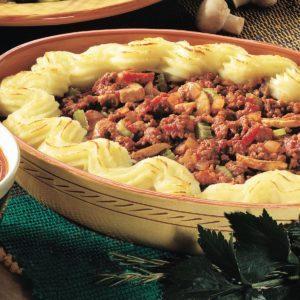 Tomato Beef Shepherd's Pie