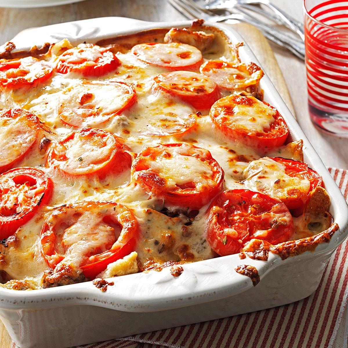 Tomato-French Bread Lasagna Recipe
