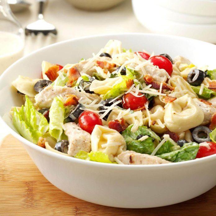 Tortellini chicken Caesar salad