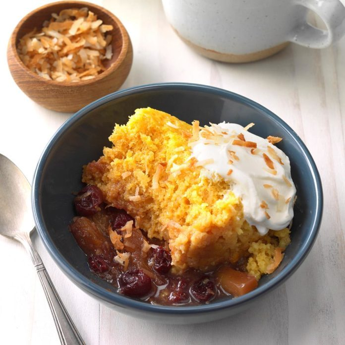 Tropical Cranberry Cobbler
