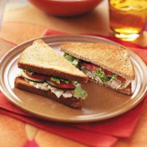Tuna Caesar Sandwiches for Two