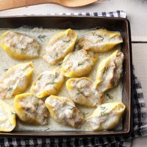 Tuna-Filled Shells