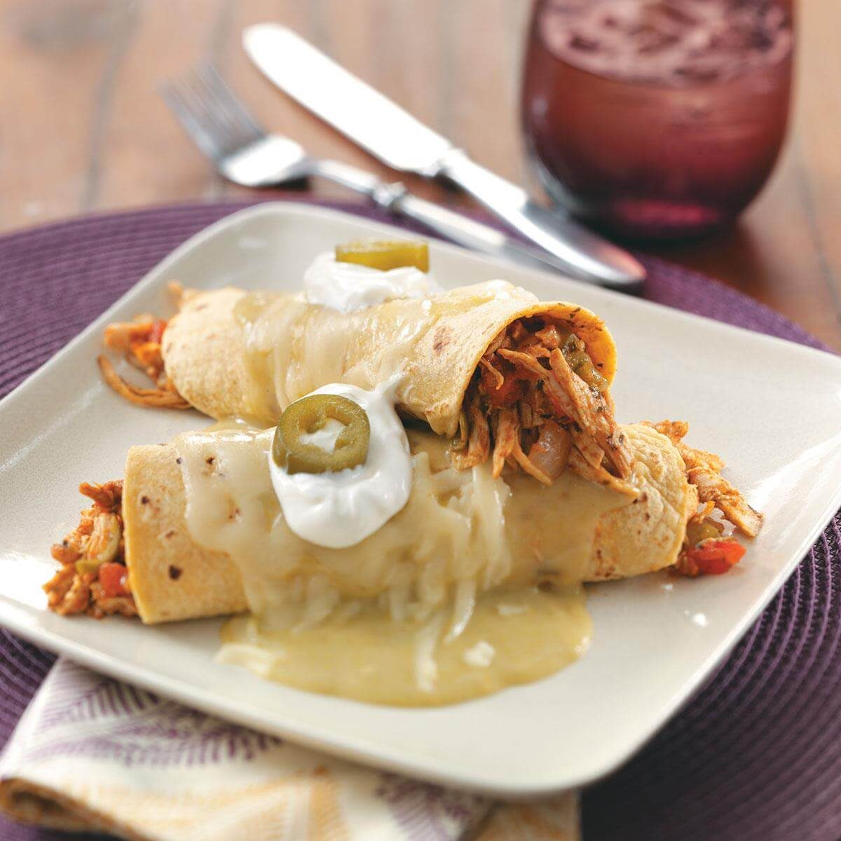 Turkey Enchiladas Verdes