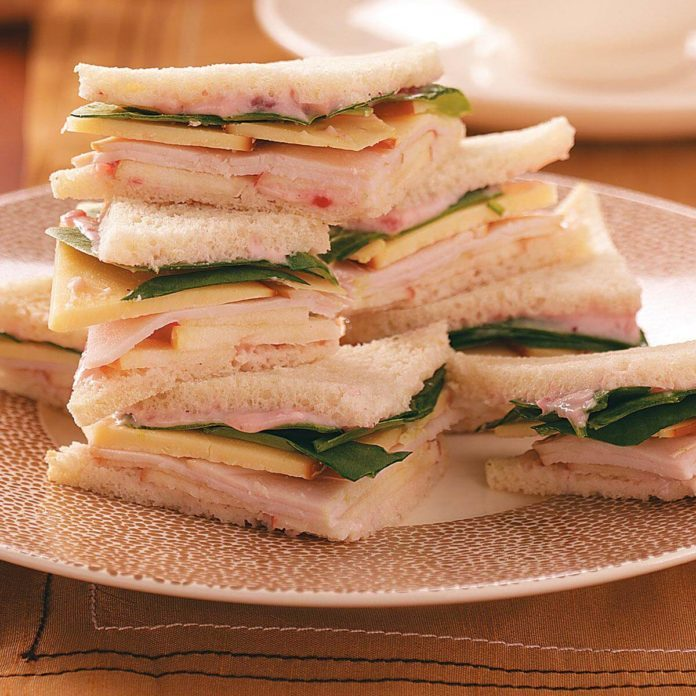 Turkey, Gouda & Apple Tea Sandwiches