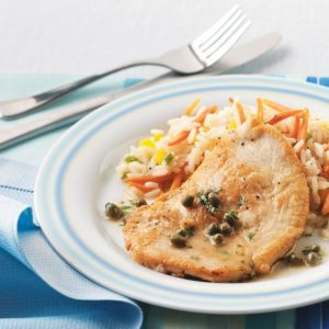 Turkey Piccata with Capers