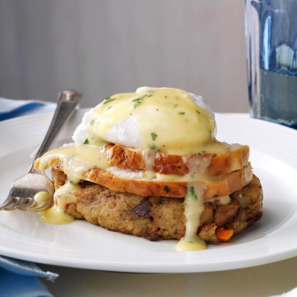 Turkey & Stuffing Eggs Benedict