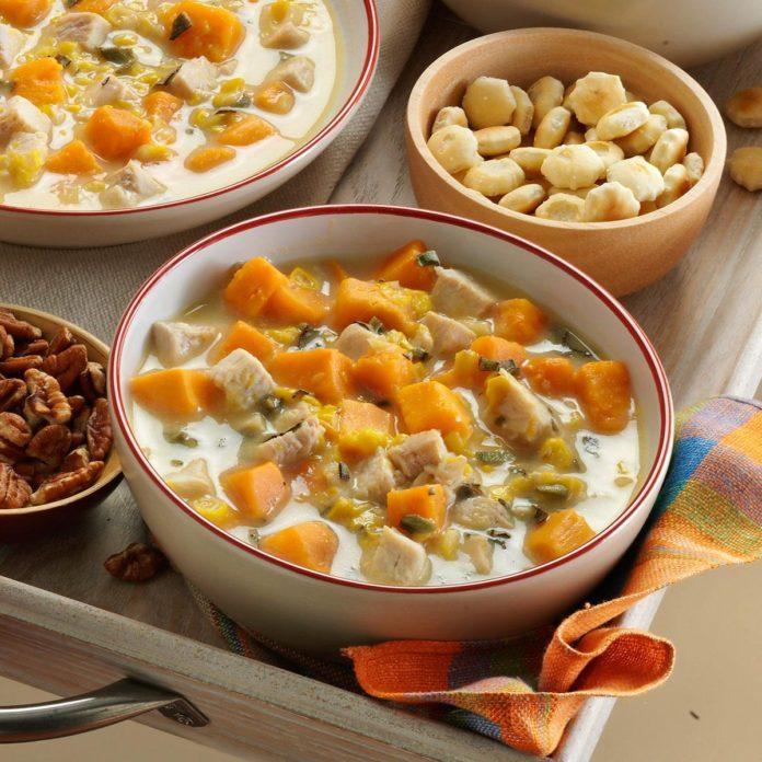 Day 14: Turkey-Sweet Potato Soup