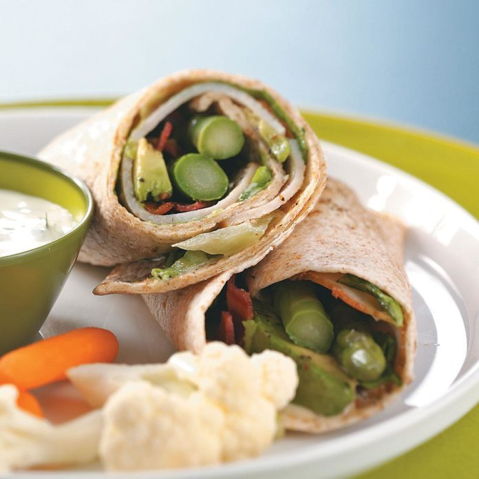 Turkey Wraps with Maple Mustard Dressing for Two