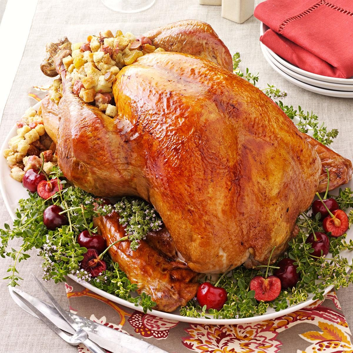 Turkey With Cherry Stuffing Recipe Taste Of Home
