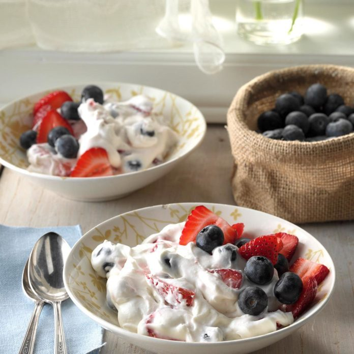 Two Berry Fluff Salad