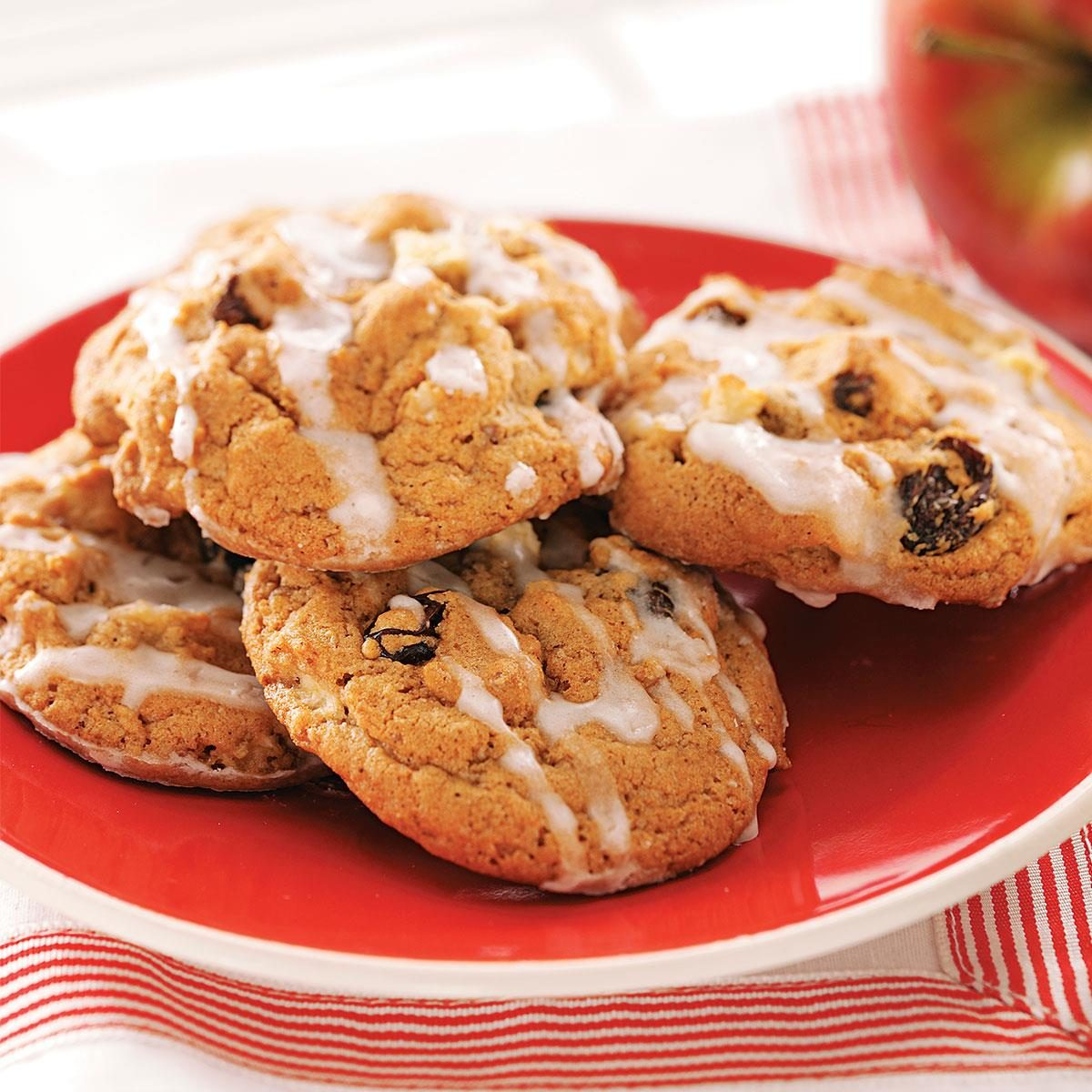 Vanilla Glazed Apple Cookies Recipe Taste Of Home