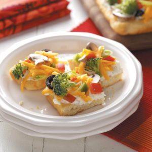 Vegetable Appetizer Pizza
