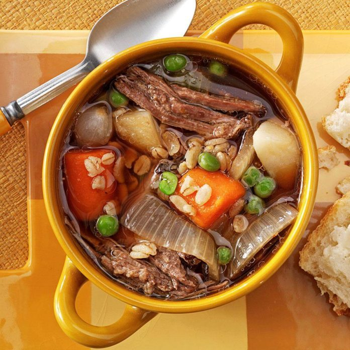 Vegetable Beef & Barley Soup