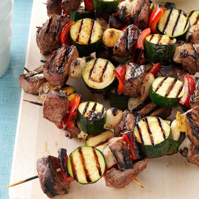 Day 17: Vegetable Beef Kabobs