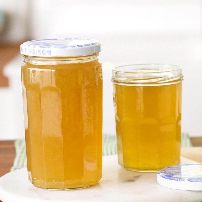 Two jars of vegetable broth
