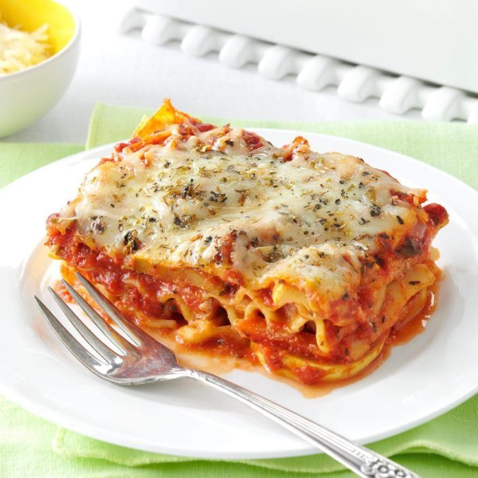vegetable lasagna recipe taste of home rh tasteofhome com