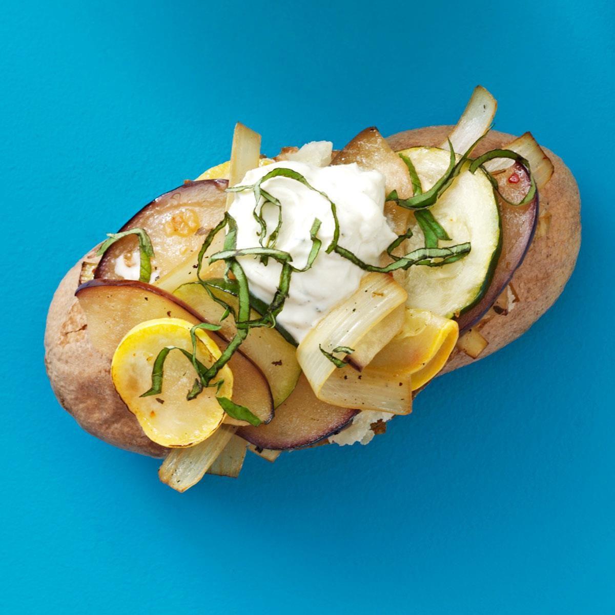 Very Veggie Baked Potatoes | Taste of Home