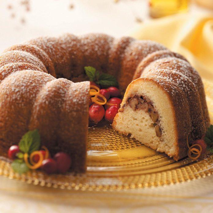 Walnut Cranberry Coffee Cake