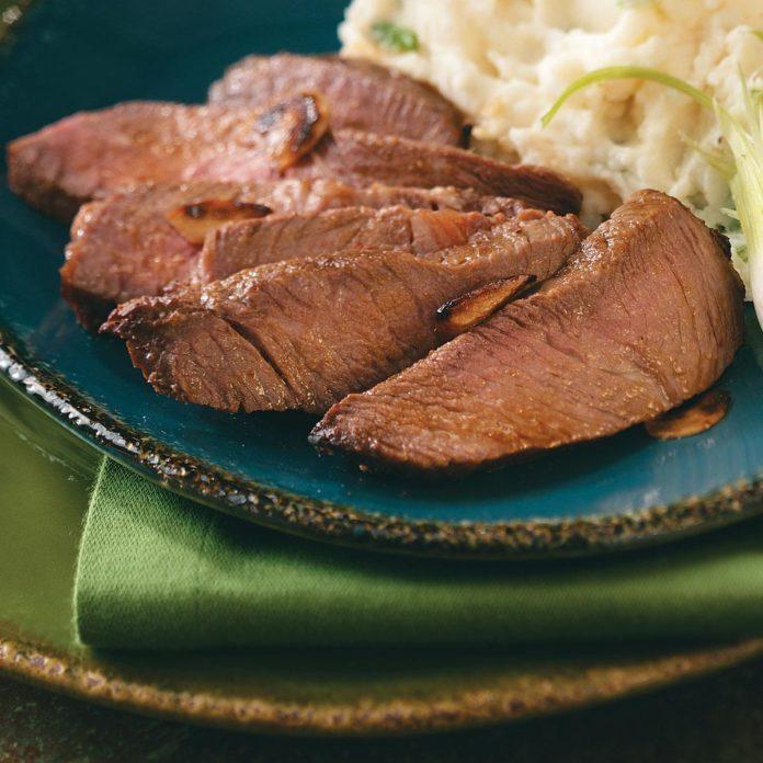 Whiskey Sirloin Steak for Two