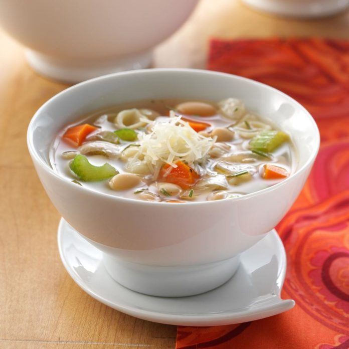 White Bean Soup with Rosemary & Parmesan