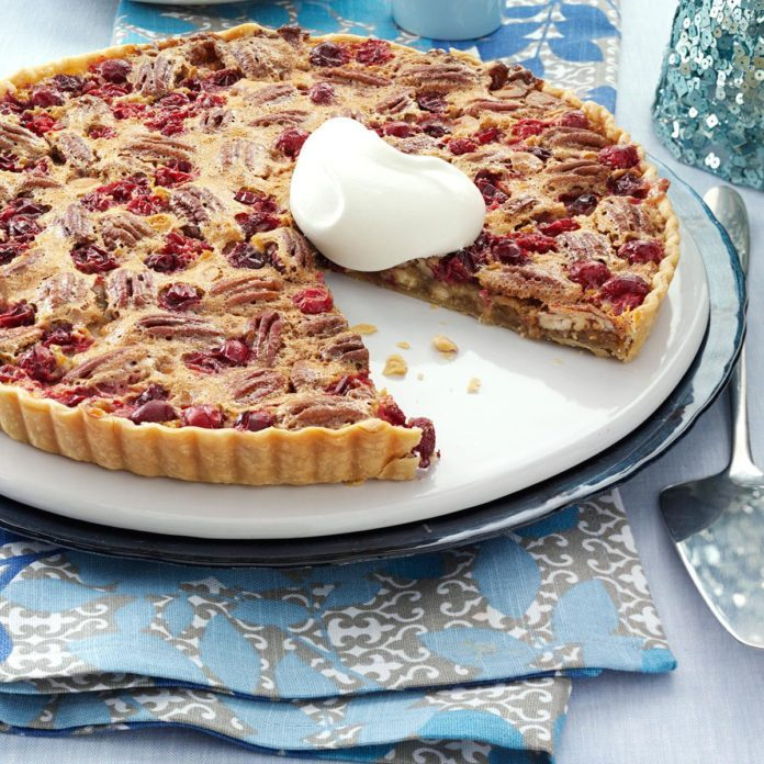 Desserts: White Chocolate-Cranberry-Pecan Tart