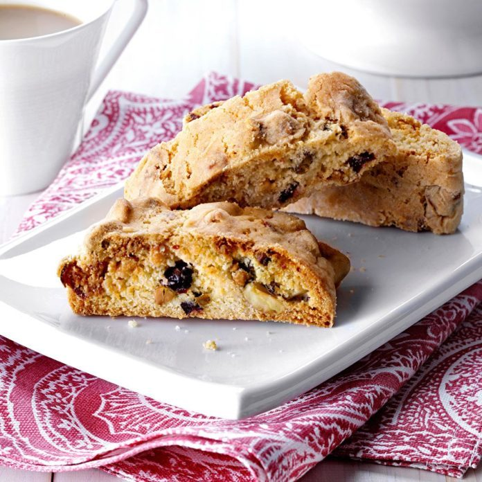 White Chocolate Pistachio and Cranberry Biscotti