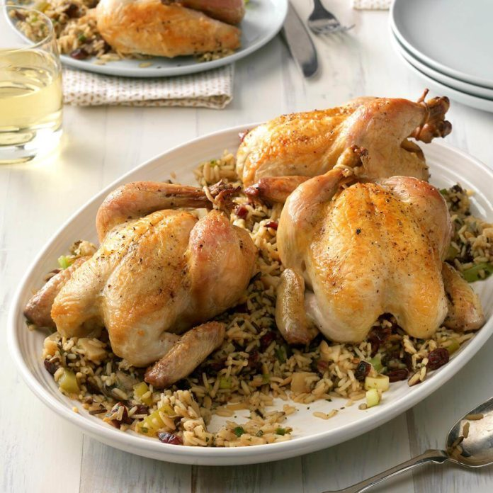 October 25: Cornish Hens with Wild Rice and Celery