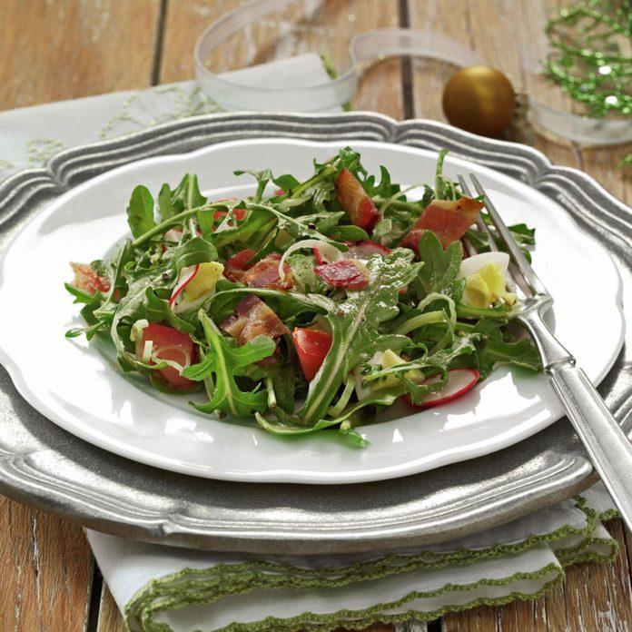 Wilted Arugula Salad