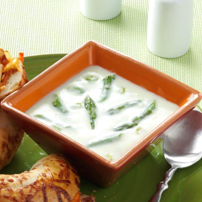 Photos of asparagus soup recipe with chicken broth