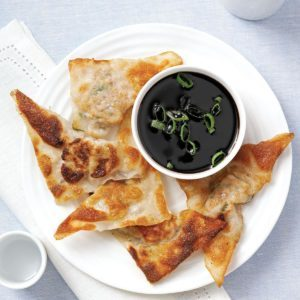 Wonton Pot Stickers with Soy Reduction