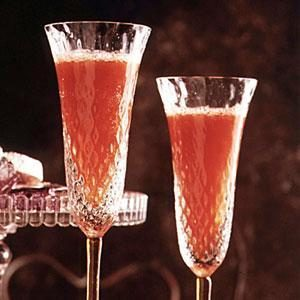 Strawberry-Champagne Punch
