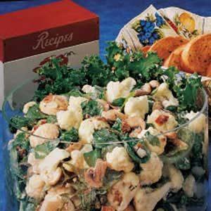 Cauliflower Spinach Salad