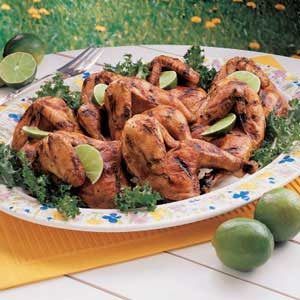 Marinated Grilled Game Hens