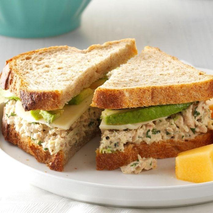 cilantro avocado tuna salad sandwiches recipe taste of home