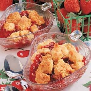 Quick Strawberry Cobbler
