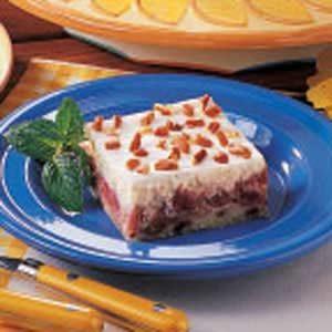 Rhubarb Cheesecake Layer Dessert