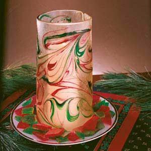 Broken Glass Candle Holder
