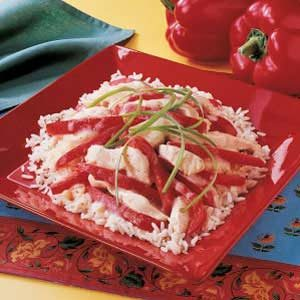 Chicken Red Pepper Saute