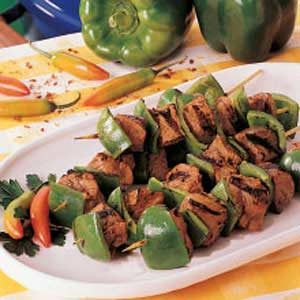 Peanutty Pork Kabobs