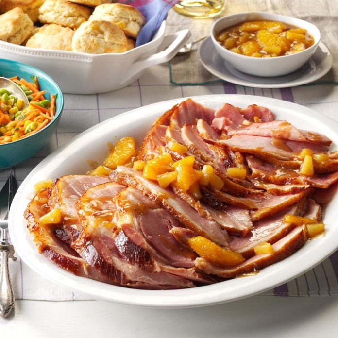 Day 16: Citrus-Spice Glazed Ham