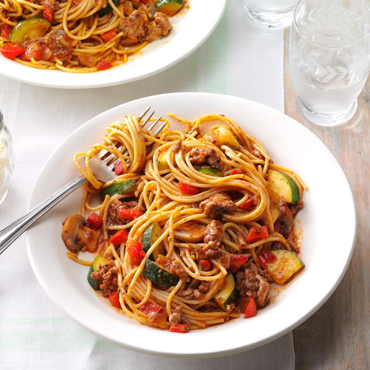 Hearty Garden Spaghetti Recipe