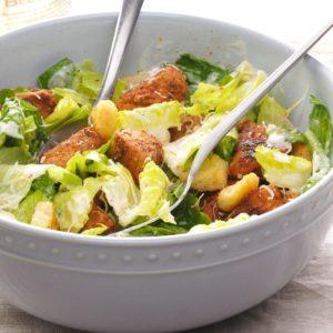 Blackened Pork Caesar Salad