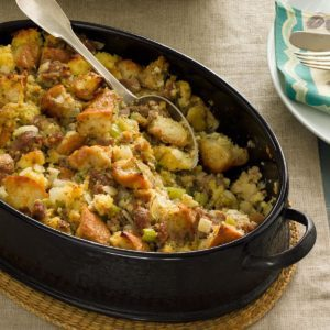 Sausage and Corn Bread Dressing